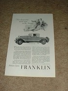 1928 Franklin Convertible Coupe Airman Ad!!!