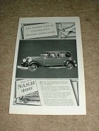 1929 Nash 400 Car Ad, Chassis Lubrication!!!