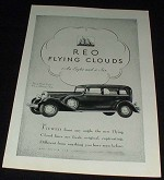 1930 Reo Flying Cloud Eight 5-Psgr Sedan Ad!!