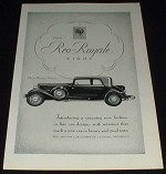 1931 Reo-Royale Eight 5-psgr Victoria Ad!!!