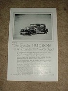 1929 Hudson 5 Passenger Club Sedan Ad, NICE!!