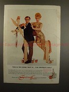 1966 Smirnoff Vodka Ad Woody Allen & Monique Van Vooren