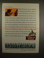 1967 The Dirty Dozen Movie Ad - Lee Marvin, E Borgnine!