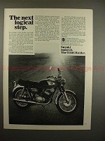 1968 Suzuki T-305 Raider Motorcycle Ad - Logical Step!!