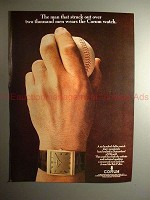 1969 Corum Watch Ad w/ Bob Feller, Struck Out Over 2000