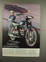 1969 Harley-Davidson Sprint 350 Motorcycle Ad - NICE!!