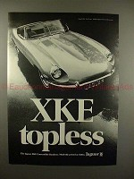 1969 Jaguar XKE Convertible Roadster Car Ad - Topless!!