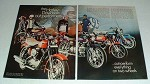 1969 2-page Harley Davidson Motorcycle Full Line Ad!!