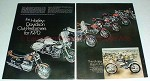 1970 2-page Harley Davidson Motorcycle Full Line Ad!!