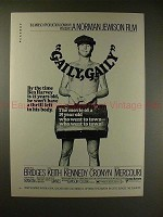 1970 Gaily, Gaily Movie Ad - Beau Bridges - Went to Town!
