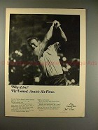 1970 United Airlines Ad w/ Golf Pro Arnold Palmer!!