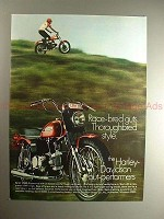 1970 Harley Davidson Sprint SS 350 Motorcycle Ad, NICE!