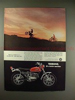 1970 Yamaha DT-1C Enduro Motorcycle Ad - Rhythm to it!
