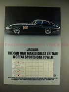 1970 Jaguar XKE Coupe Car Ad - Great Sports Car Power!!