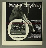 1970 BSR McDonald Automatic Turntable Ad w/ Nude Woman!