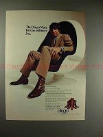 1971 Dingo Boots Ad w/ Joe Namath - in Egg Chair, NICE!