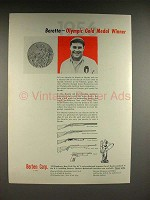 1957 Beretta Firearm Ad w/ Olympic Winner Liano Rossini