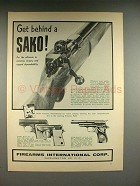1957 FI Sako Rifle, Astra Model 200, Cub, Star Gun Ad