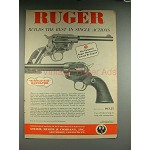 1957 Ruger Single-Six Revolver Gun Ad - Single Action