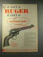 1958 Ruger Single-Six Revolver Gun Ad!