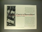 1959 Hasselblad Camera Ad - Carry Instead of a Studio