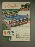 1958 Ford Fairlane 500 Club Victoria Car Ad!
