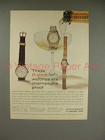 1960 Bulova Regatta, Bulova 30, Lady Bulova Watch Ad