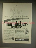 1961 Mannlicher-Schoenauer Rifle Ad - Most Honored