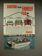 1962 Evinrude Outboard Motor Ad - Means Family Fun