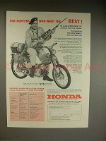 1962 Honda Trail 50 Motorcycle Ad - For Hunters!