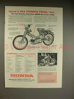 1962 Honda Trail 50 Motorcycle Ad - Does More!