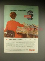 1963 NCR Compu-Tronic Computer Ad - Save Annually