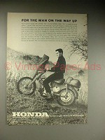 1963 Honda Trail 55 Motorcycle Ad - On The Way Up!