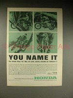 1963 Honda Trail 55 Motorcycle Ad - You Name It