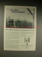 1963 Bell OH-13 Helicopter Ad - What Maneuverability
