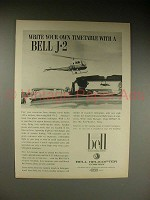 1963 Bell J-2 Helicopter Ad - Your Own Timetable!