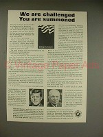1963 Challenge to Americans Ad w/ Kennedy, Eisenhower