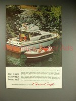 1963 Chris-Craft 37-ft Constellation, 17-Ft Ski Boat Ad