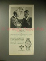 1963 Rolex Datejust Oyster Chronometer Watch Ad