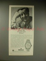 1963 Rolex Datejust Watch Ad w/ Walter Slezak