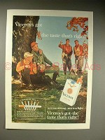1963 Viceroy Cigarette Ad w/ Hunters - Taste Right!