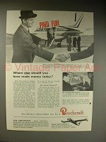 1963 Beechcraft Queen Air 65 Airplane Ad - Where Else