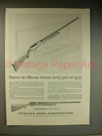 1963 Stoeger-Franchi Shotgun Ad - Good and Great!