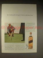 1964 Johnnie Walker Scotch Ad - George Thomson