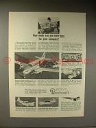 1964 Beechcraft Queen Air 80 Plane Ad - Earn Here!