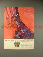 1964 Seven 7-Up Soda Ad - 7-up Your Thirst Away