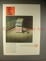 1964 Burroughs B 200 Computer Ad - In this Corner!