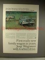 1964 Jeep Wagoneer Ad - First New Wagon In Years