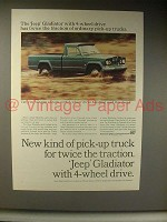 1964 Jeep Gladiator Pickup Truck Ad - Twice Traction