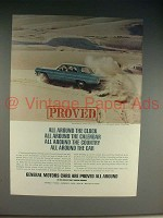 1965 GM Proving Grounds Ad, Chevrolet Impala Car!
